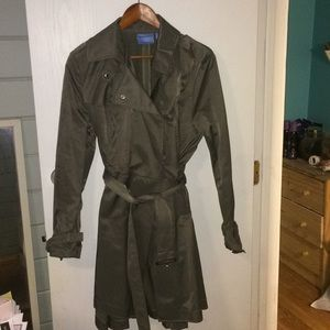 Simply Vera Vera Wang olive trench coat in XL